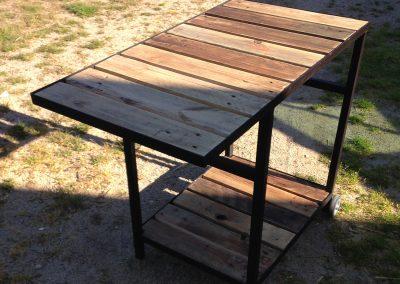 Meuble plancha bois-métal Borda