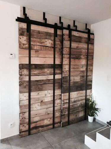 Porte coulissante bois/métal