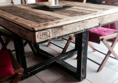 Table à dîner Alix noir et bois