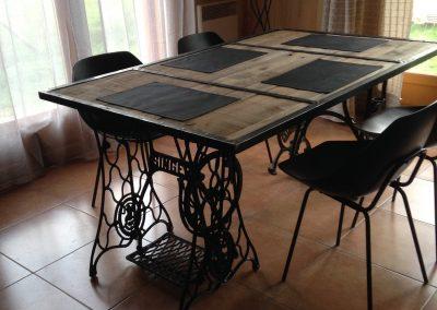 Table à dîner bois/métal Blunt