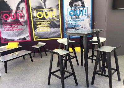 Aménagement stand expo salons professionnels - COL salon logement neuf bordeaux