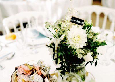 Un mariage au Pays basque... Décoration centre de table
