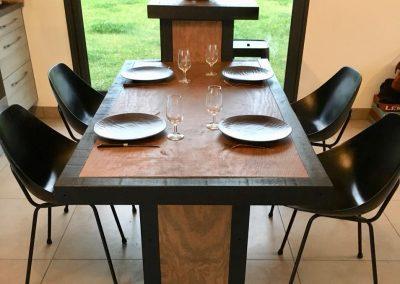 Meuble combiné cuisine  Acotz : îlot, plan de travail, comptoir et table à dîner