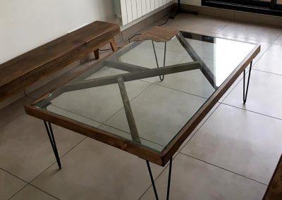 Table basse Silva - Upcycling à partir d'une vitre cassée