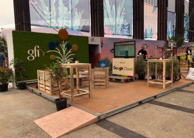 Aménagement stand expo salons professionnels - Gfi Informatique - Web2day 3