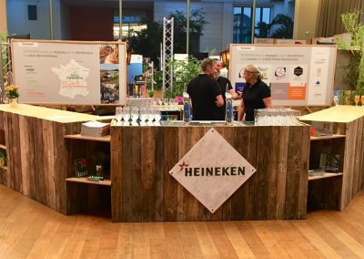 14èmes Assises nationales du centre ville au Centre de Congrès de Pau  - Bar pour stand Heineken
