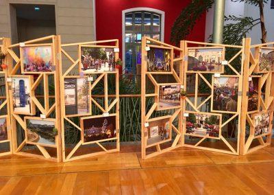 Aménagement stand expo salons professionnels - Centre-ville en mouvement 2019-Paravents expo photos