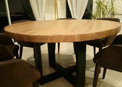 """Table à dîner bois et métal """"Factory"""""""