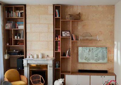 Meuble TV Bibliothèque - Meubles en bois sur mesure