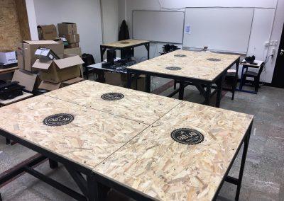 Aménagement professionnel - Tables hautes Lycée Tarbes