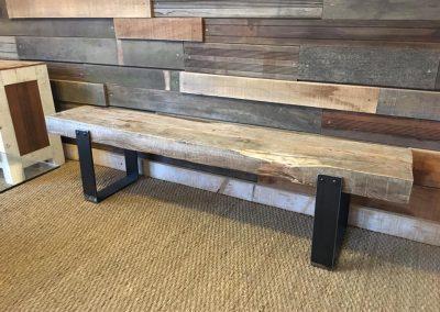 Banc bois et métal - Mobilier sur mesure et original en bois