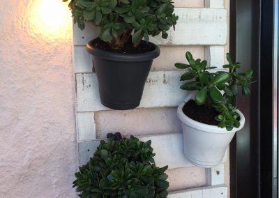Décor suspension pots de fleurs - Mobilier d'extérieur et décoration en bois 1