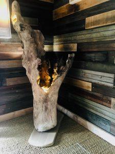 Lilou in the Wood - Création bois Atelier Showroom - Luminaire bois flotté
