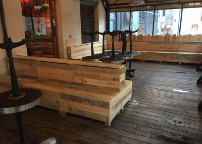 Meubles sur mesure professionnels Restaurants - Indiana Café Bercy