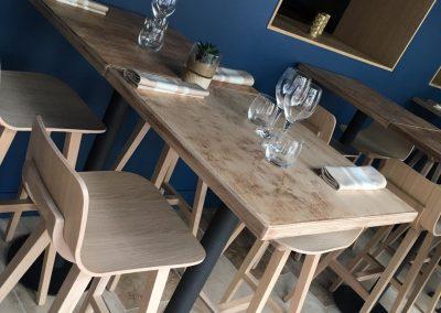 Plateau de table en bois recyclé - Meubles cuisine sur mesure en bois