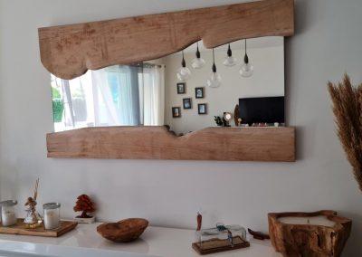 Miroir bois sur mesure